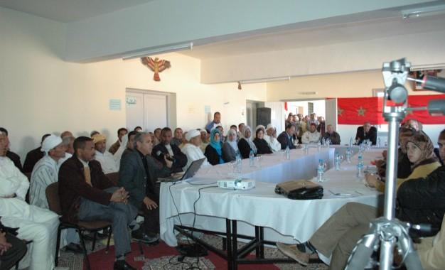 Participation a la rencontre de communication avec le gouverneur de Tinghir