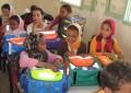 Aide à la scolarisation: Distribution de fournitures scolaires aux élèves du secteur scolaire ALMOUJAHIDIN
