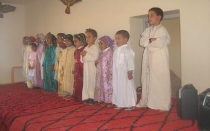 Les enfants de la garderie de TAYMATà la cérémonie du collège IBN KHALDOUN