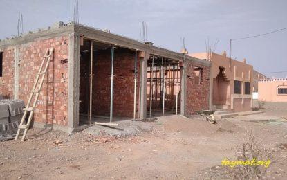 Construction de la deuxième partie du complexe socio-culturel Taymat