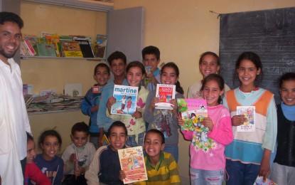 Education & scolarisation: création de 5 bibliothèques en partenariat avec l'association Tiwizi Suisse