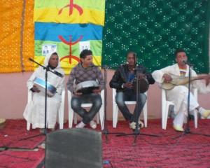 Rachid Ouberry le poète, l'artiste… du village au festival lalla mimouna  2012 à Mssici