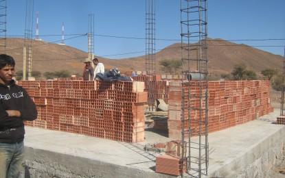 Début des travaux de construction d'une partie du local de l'association