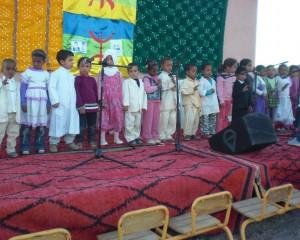 Les enfants de la garderie de Taymat au festival lalla mimouna  2012 à Mssici