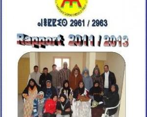 Rapport des activités de l'association Taymat pour 2011/2013 à Télécharger en PDF